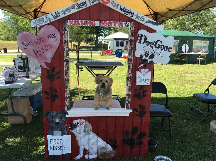 Doggie kissing booth dog vendor booth doggonespoiled