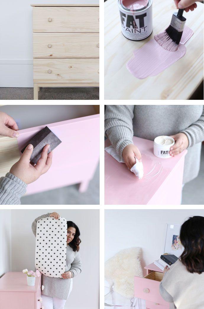 A Pretty Pink DIY Dresser IKEA Hack   Glitter Guide