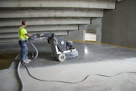 The HTC 800 HDX, one of the concrete floor grinding machines now available from PMSA's Galileo Trading.