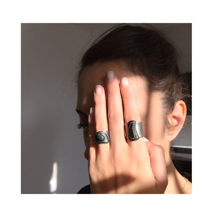 Titanium collection #ring #colored #diamonds #blacksilver #huffyjewels  www.huffyjewels.com