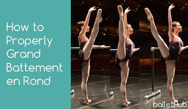 How to Properly Grand Battement en Rond #ballet   BalletHub
