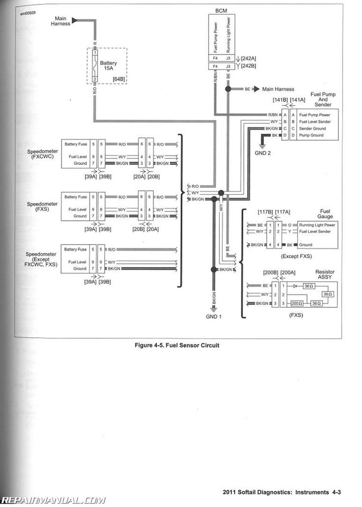 2007 Harley Softail Wiring Diagram | Motorcycle