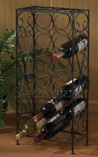 "Wine Cellar 18 Bottle Wine Rack by Park Designs, 27"" High, Black Iron, Great Gift! Free shipping in the contiguous US."