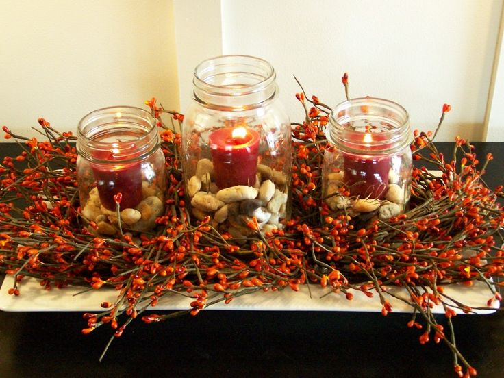 9 best holidaycrafts images on pinterest bricolage crafts and interior awesome table centerpieces with red candles and seed in the glass vase on cool solutioingenieria Image collections