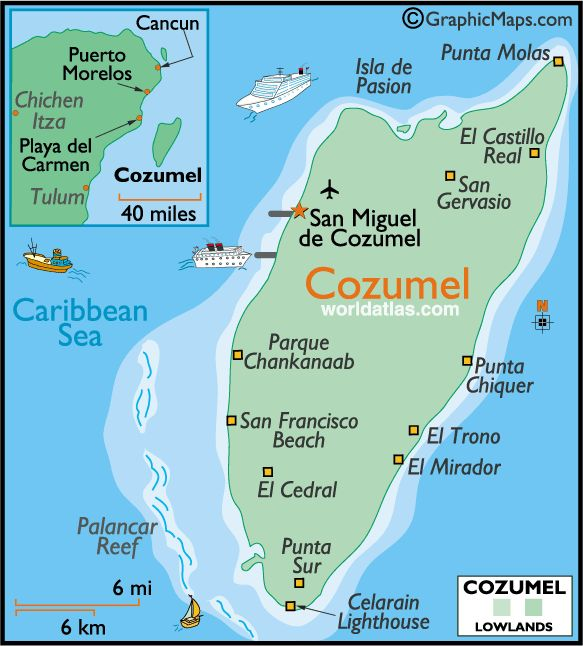 Cozumel, Mexico. Great place to snorkel, swim, ride 4-wheelers, rent scooters, and party!