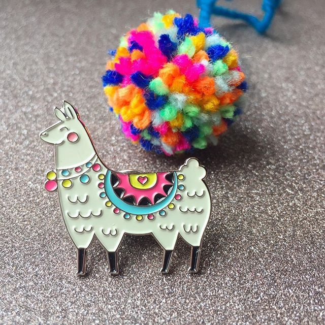Llamas and pompoms, plus Friday is totally almost here! Yay! 😍😍😍 - shop link in profile .  .  .  .  #pin #pins #pingame #pinstagram #pincommunity #enamelpin #fashion #pinsofig #pinlife #wearableart #lapelpin #pingamestrong #design #pingang #pinoftheday #pincollector #corazonpompom #flairofig #pinsfordays #nottingham #pingameonpoint #portugal #llama #pompom #handmade #crochet #knitting #felting #alpaca