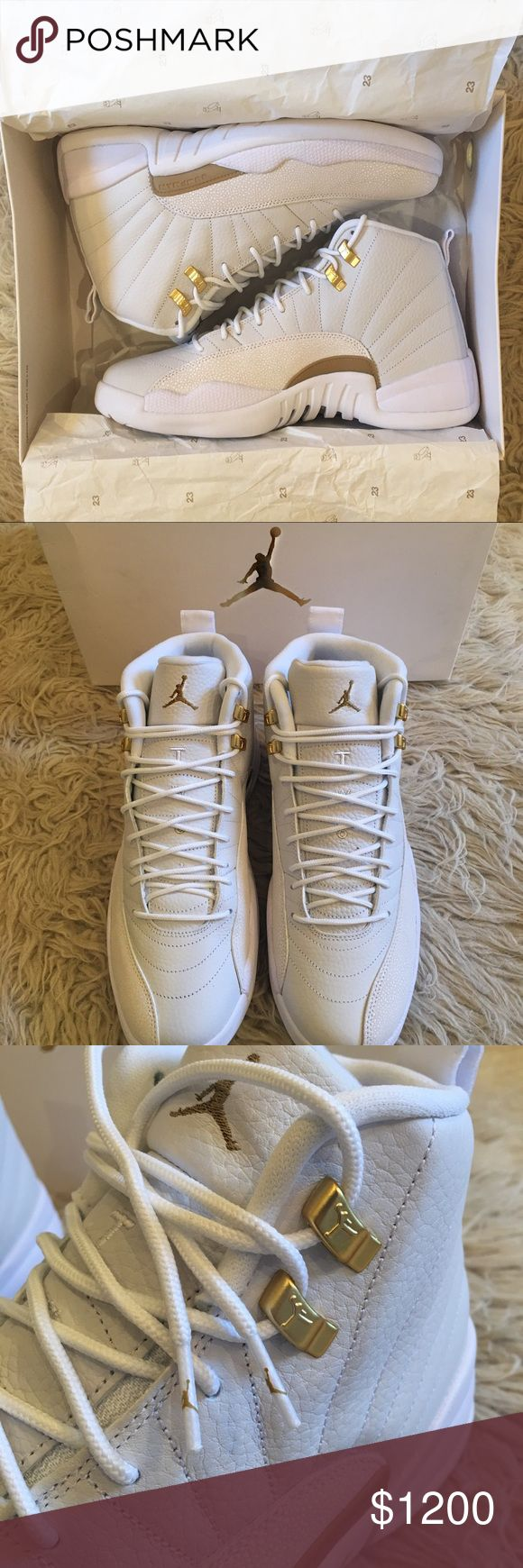100% AUTHENTIC New Air Jordan 12 Retro OVO Sz 10 100% Authentic. Verified authenticity by Flight Club. Brand new with original box and receipt. Limited Edition Nike Air Jordan 12 Retro OVO. I purchased these Jordans as gift. I purchased directly from the Flight Club website, unfortunately they were the wrong size, and I was unable to return them to the company. These have never been worn, or used. Please feel free to comment with any questions or for any additional information, I'm happy to…