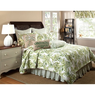 @Overstock - This cotton quilt set provides a tropical feel to the bedroom with beautiful tropical leaves in shades of green. Optional bedskirt and sham options are available for purchase with this set.http://www.overstock.com/Bedding-Bath/Tropical-Leaves-Green-Quilt-Set-Bedskirt-and-Sham-Separates/7378258/product.html?CID=214117 $22.99