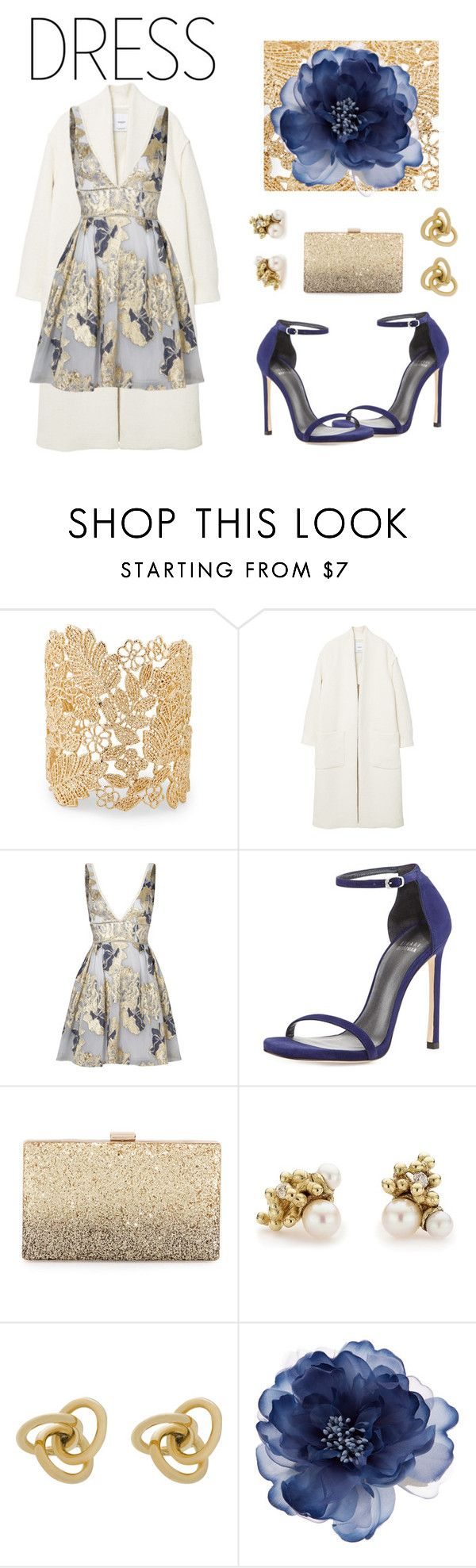 """""""NYE"""" by rleeannee ❤ liked on Polyvore featuring Sole Society, MANGO, Notte by Marchesa, Stuart Weitzman, Neiman Marcus, Ruth Tomlinson, Oroton and Accessorize"""