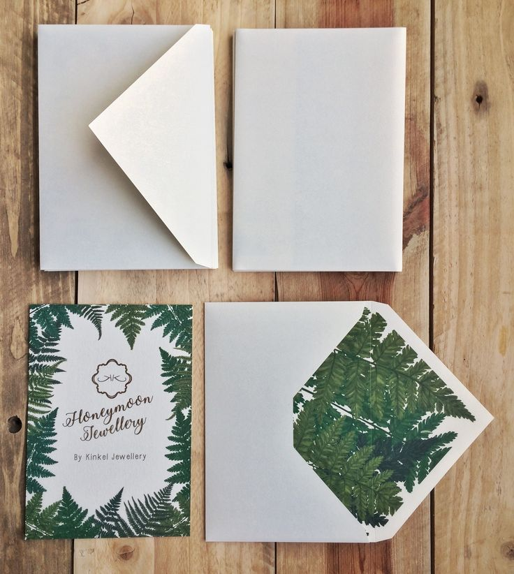 Custom voucher design with matching envelope. Stationery designer. Gold Foil.