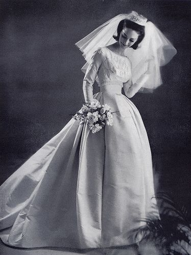 Bouffant bride 1963 by Millie Motts, via Flickr