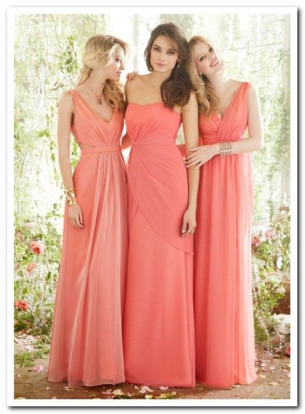 Bridesmaid beach wedding dresses 3 photo wedding for Coral bridesmaid dresses for beach wedding