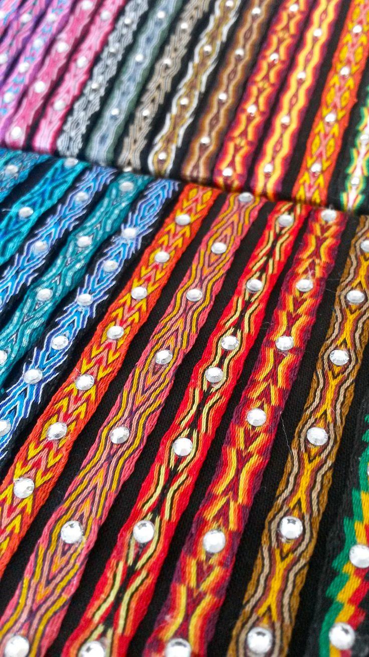 pulseras de telar egipcio plata y Swarovsky 100% handmade from colombia www.wayuucolombiabarcelona.com