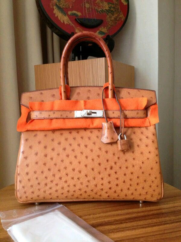 PreOwned B30 Ostrich Camel phw #H