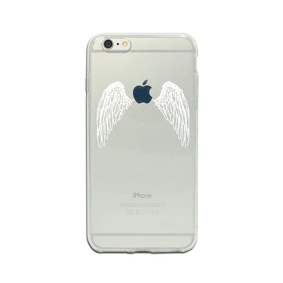 Clear iPhone 6 plus 7 Plus case white wings angel phone case