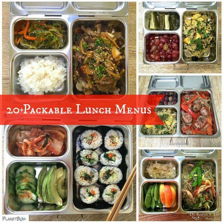 20 Plus Packable Lunch Menus drkarenslee