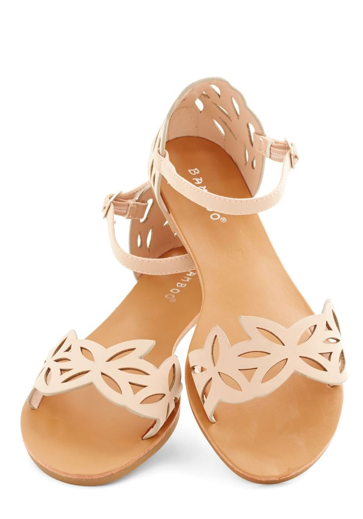 Ice and Easy Sandal. What could be better than a refreshing helping of Italian ice? #pink #modcloth