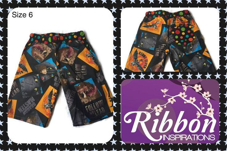 Handmade by Kate from Ribbon Inspirations. Size 6 busy boys shorts