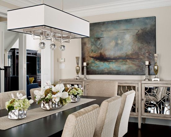 Inspiring Buffet Table Decorating Ideas For Your Interior Contemporary Dining Room With Retro Set