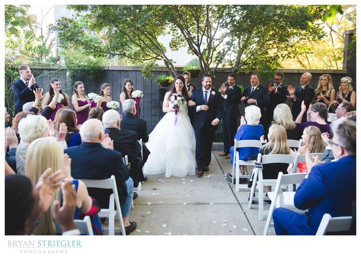 Bride And Groom Exiting Outside Wedding Ceremony In Fayetteville