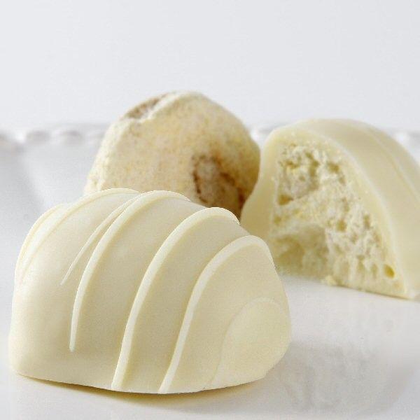 Feijoa white chocolate truffles. Feijoa!!