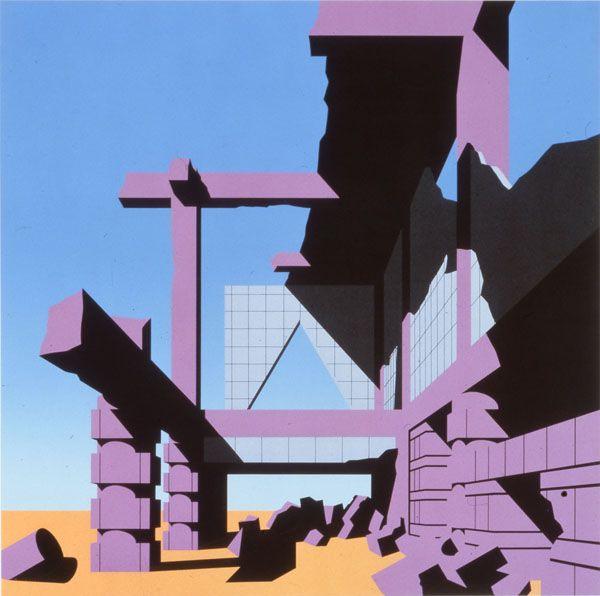 arata isozaki, screen print from the '120 invisible cities' series