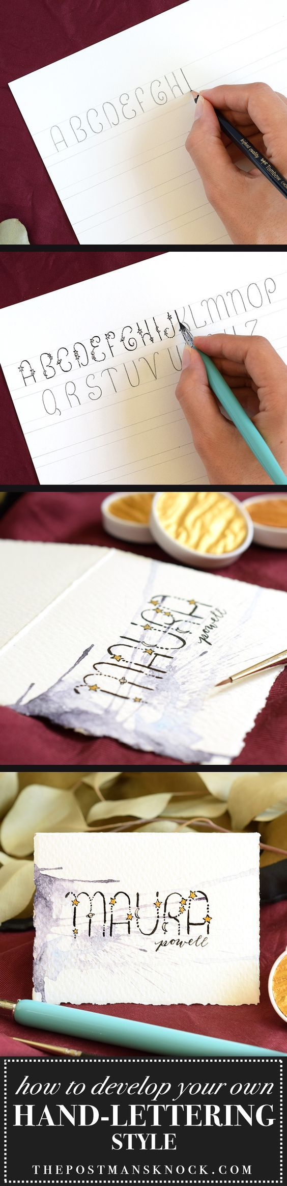Learn how to develop your own hand-lettering style in a few steps!