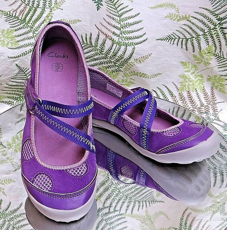 CLARKS PURPLE LEATHER MARY JANES LOAFERS CASUAL PLAY SHOES GIRLS US KIDS SZ 3 M #Clarks #SchoolShoes #Party