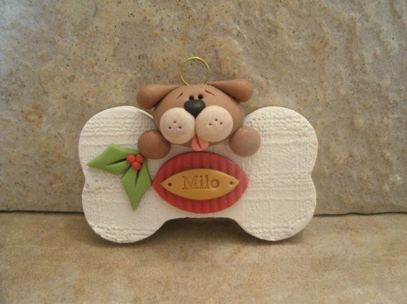 Give a Dog a Bone Personalized Christmas by countrycupboardclay