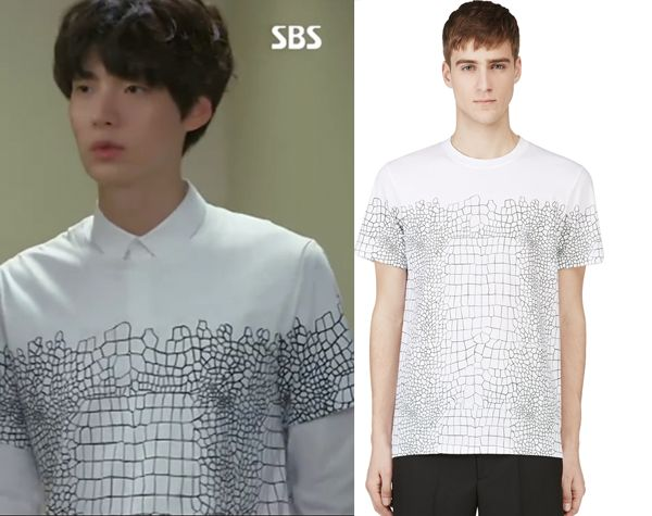 "Ahn Jae Hyeon in ""You're All Surrounded"" Episode 9.  Krisvanassche Croc Print T-Shirt #Kdrama #YoureAllSurrounded #너희들은포위됐다 #AhnJaeHyeon #안재현"