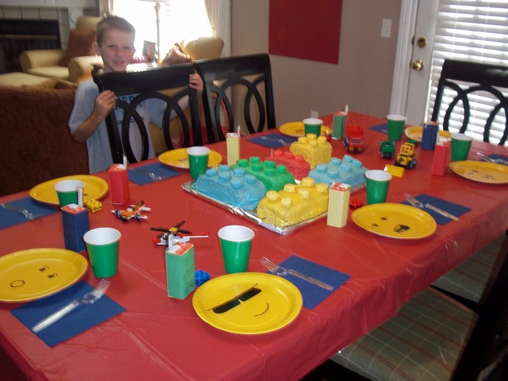 Lego Party for my seven year old.  Made lego cakes, lego face plates, the juice boxes look like legos.