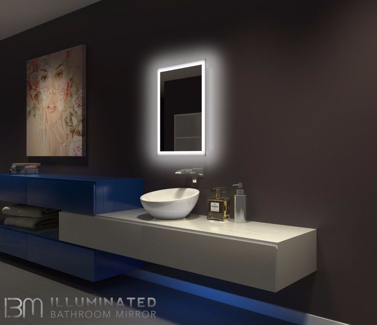 Bathroom Mirrors Lit From Behind best 25+ backlit mirror ideas on pinterest | backlit bathroom