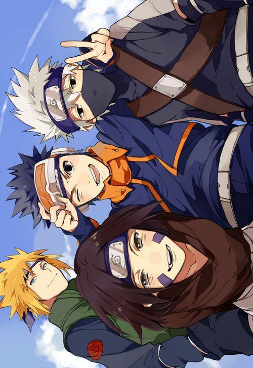 Minato, Rin, Obito, Kakashi