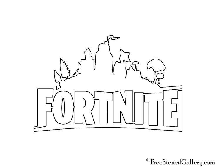 Fortnite Logo 02 Stencil Sylvaine Arroyo Kolorowanki Szablony