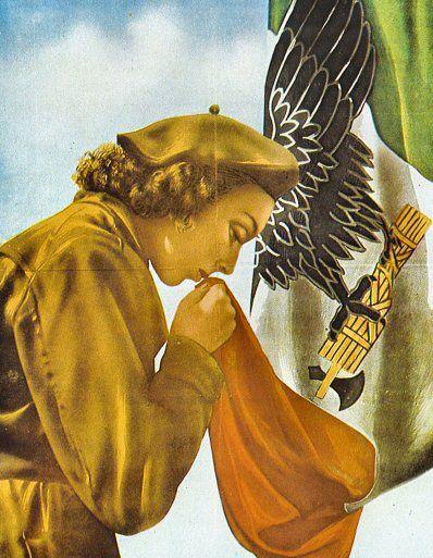 Vintage Italian Posters ~ #Italian #vintage #posters ~ WWII-era Italian Fascist propaganda poster