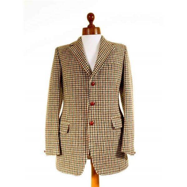 Heavy vintage 1960s men's Harris Tweed jacket 38L UNWORN ...