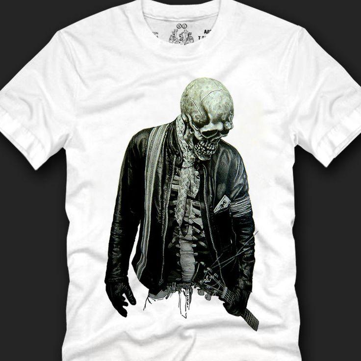 Men's T- shirts Unique Fashion Style Trendy Look 100% Cotton, skull musian copy #Koreanleadingfashiontrends #GraphicTee