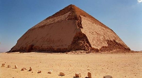 Bent Pyramid at Dahshur, Egypt New Year / http://www.shaspo.com/new-year-holidays-in-egypt-hot-deals / You will have the option at the end of your tour to visit Dahshur including a visit to the bent pyramid of King Senefru.