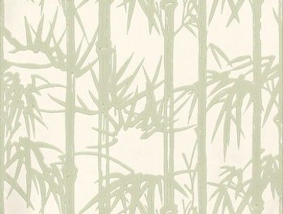 Bamboo (BP 2139) - Farrow & Ball Wallpapers - Bamboo is an exotic pattern adapted from an iconic Japanese print with striking bamboo shoots and plucky leaves. Showing in fresh green on a cream background - more colours are available. Please request a sample for true colour match.