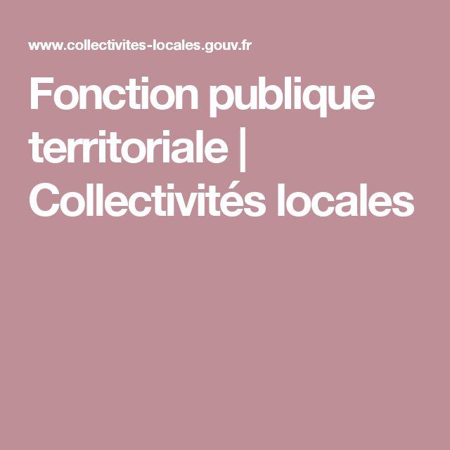 Fonction publique territoriale | Collectivités locales