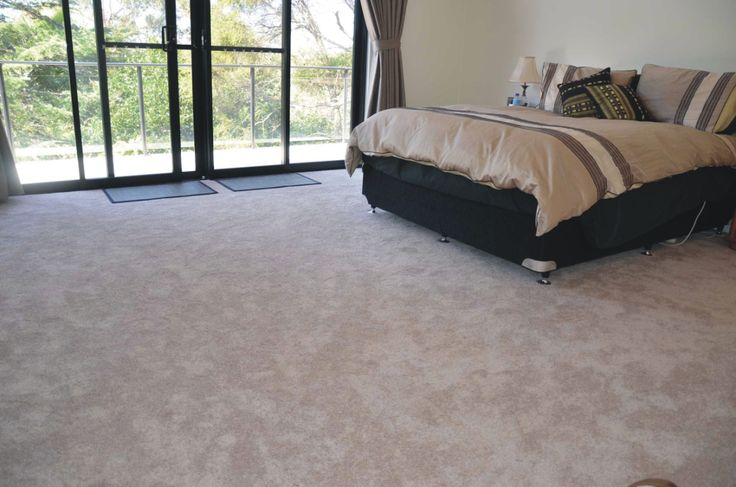 Smartstrand Silk Sequoyah Dusk Laid in bedroom by Harvey Norman Osborne Park.  I think it looks great and feels amazing. #soft #smartstrand #beigecarpet