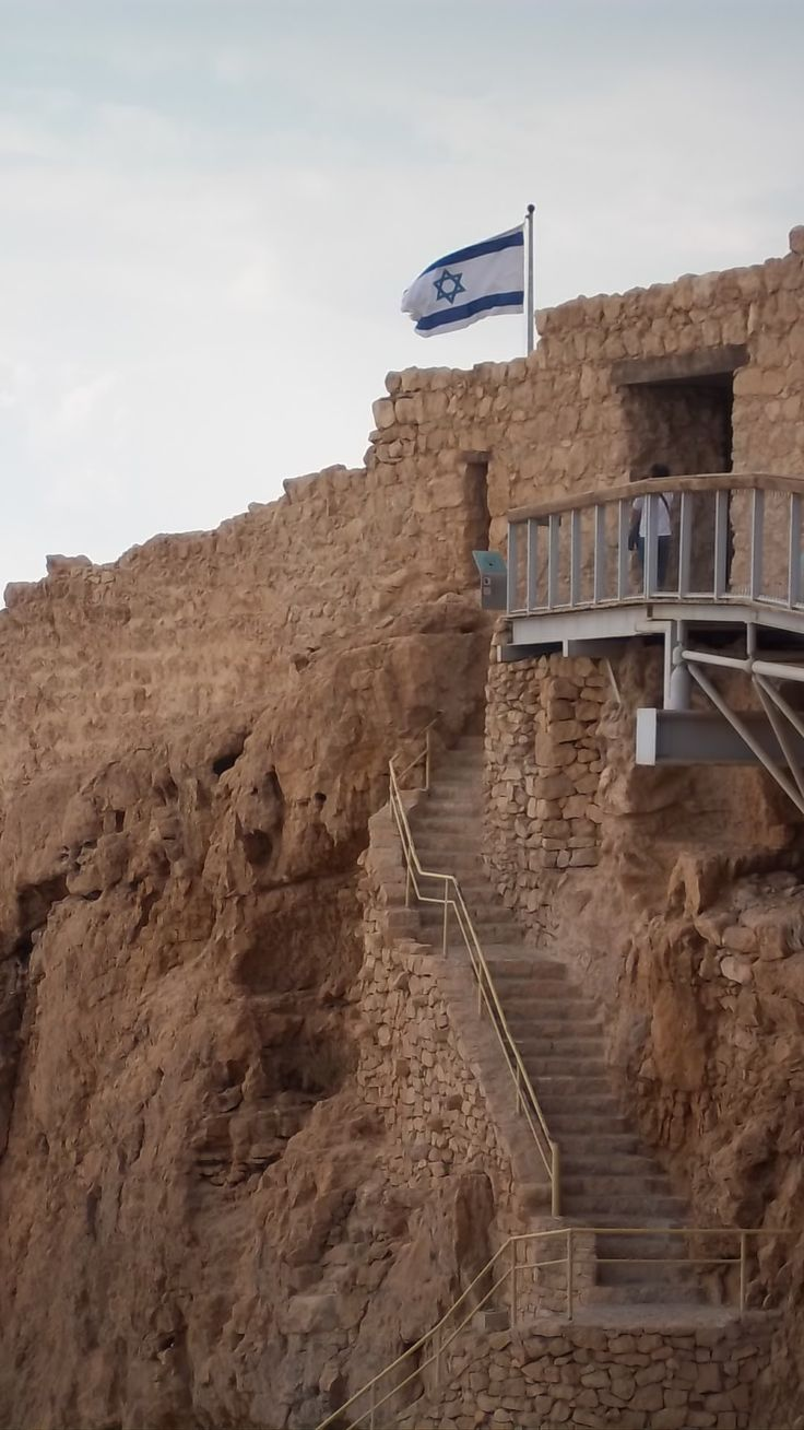 Masada in Israel. Hiked up one side and hiked down the snake trail of steps on the other side...October 2013