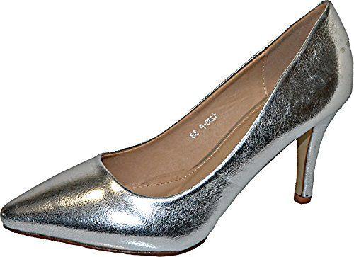 Damen Pumps Spitze Pastell High Heels Schuhe Lack Glitzer Elegant Peep-Toes Hochzeit Größe 37, Farbe Silber - http://on-line-kaufen.de/elara/37-eu-damen-pumps-spitze-high-heels-stiletto-lack-4