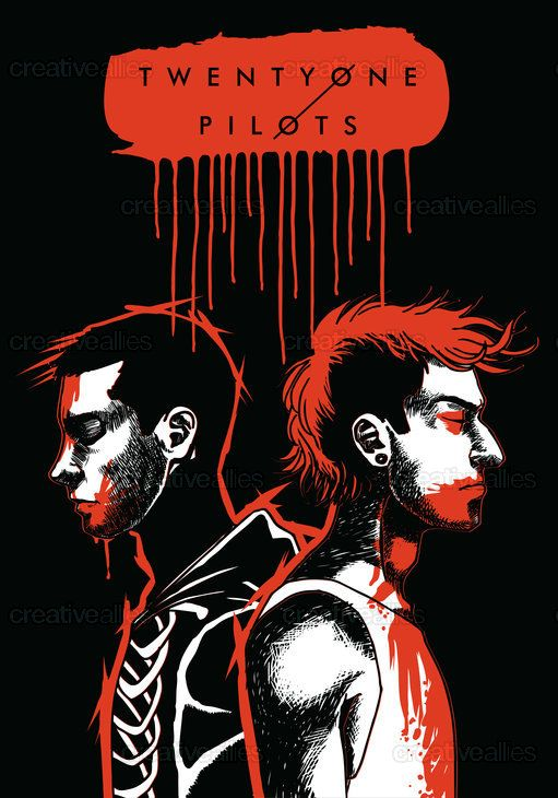 TWENTY+ONE+PILOTS+Poster+by+Ela+Raczyk+on+CreativeAllies.com                                                                                                                                                                                 Mais