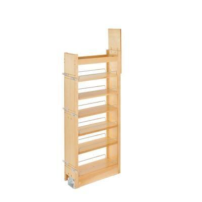 Rev A Shelf 57 In H X 12 In W X 7 5 In D Wood Swing Out Cabinet Pantry Kit Unfinished Wood Pantry Perfect Kitchen In 2019 Pantry Pantry Organization Kitchen Storage