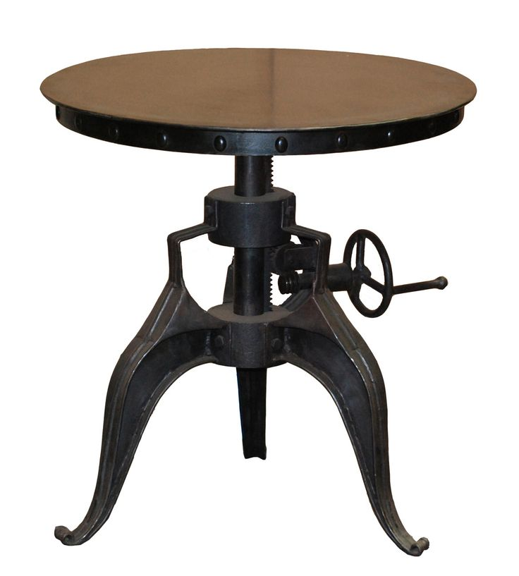 Ethan Accent Table   A Handsome Touch For Your Living Room Or Den, This  Industrial Chic Accent Table Showcases An Adjustable Crank Mechanism And  Cabriole ...