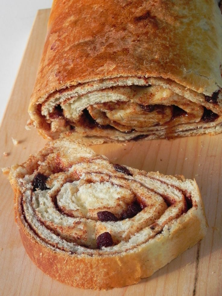 Cinnamon Raisin Swirl Bread Recipe | Bread Basket... | Pinterest
