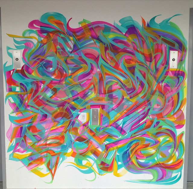 1 of 19 murals at 55 Hope Street condos in Brooklyn NYC  Acrlic  ArtByMiles@gmail.com