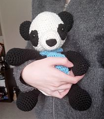 free pattern panda amigurumi softie suffed animal crochet