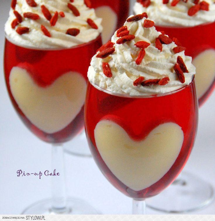 Deser z galaretki na Walentynki